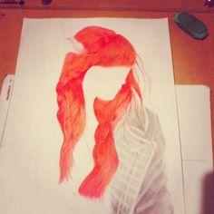 """4 curtidas, 1 comentários - GUSTAVO HENRIQUE (@refugio1996) no Instagram: """"Em andamento #Drawing #desenh4ndo #rock #girl #redhair #ruva"""""""