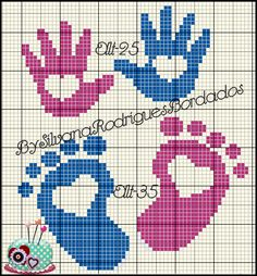 Baby pattern by Cantinho da Artes