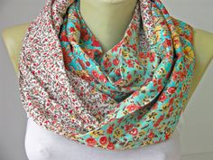 Loop Scarf/ infinity scarf Flora /Voile fabric scarf by SenasShop, $17.90