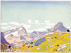 Walter J. Phillips (1884-1963) Mount Cathedral & Mount Stephen, 1928