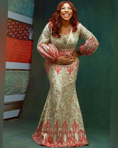 Creative Aso Ebi Styles to Check Out African Lace Styles, African Lace Dresses, Latest African Fashion Dresses, African Style, African Attire, African Wear, Nigerian Wedding Dresses Traditional, Beautiful Long Dresses, Lace Dress Styles
