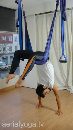 Aerial Yoga aerial yoga by AeroYoga  www.aerialyoga.tv Air Pilates: Aero Yoga en Madrid by yogacreativo, via Flickr