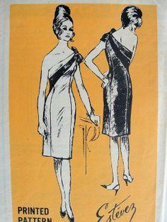 Prominent Designer Mail Order M272 circa 1965 Luis Estévez Dress