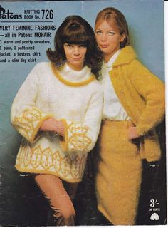 1960s Vintage Knitting patterns booklet by allthepreciousthings, $7.50