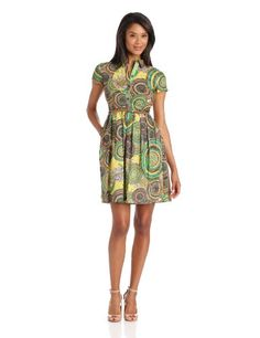 Ellen Tracy Women`s Printed Shirt Dress with Belt $83.00 (save $45.00) + Free Shipping
