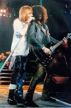 Axl Rose and Slash, early '90s