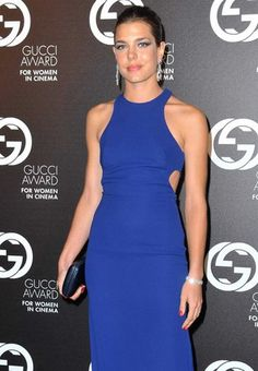 Las celebrities eligen... ¡el azul!. Carlota Casiraghi.