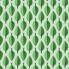 Green leaves for baby chameleon fabric by petitspixels on Spoonflower - custom fabric