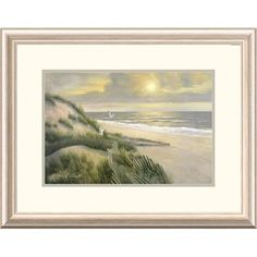 Global Gallery 'Coastal Morning Meditation' by Diane Romanello Framed Graphic Art Size: 2