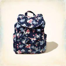 Hollister Printed Backpack