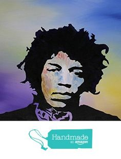 "JImi Hendrix 14""x18"" Acrylic Pop Art Painting on Canvas from Craig Granato Art https://www.amazon.com/dp/B01B48ZQP0/ref=hnd_sw_r_pi_dp_vtkxxb3KHT03R #handmadeatamazon"