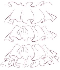 how to draw ruffles ✤  • Find more at https://www.facebook.com/CharacterDesignReferences
