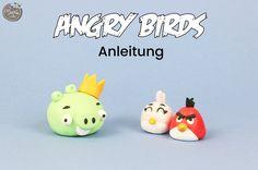 Anleitung für Angry Birds aus Fondant von Féerie Cake