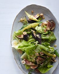 Roman- when the figs on your tree are ready! Butter Lettuce & Romano Bean Salad with Fig Vinaigrette Recipe Summer Salad Recipes, Summer Salads, Bean Recipes, Wine Recipes, Pickled Beet Salad, Fresco, Avocado Salad, Fig Salad, Gastronomia