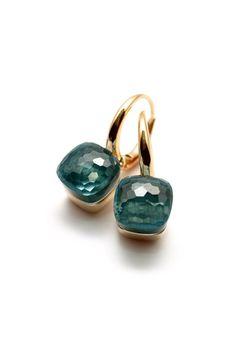 Pomellato 21mm Blue Topaz Nudo Earrings | Oster Jewelers, Denver Colorado