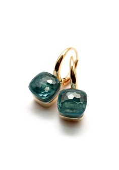 Pomellato 21mm Blue Topaz Nudo Earrings | Oster Jewelers, Denver Colorado