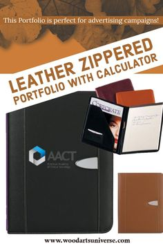 Upto 65% off This Leather Zippered Portfolio is perfect for advertising campaigns! Features writing pad, card holders, elastic pen loops, and 2 inside pockets. It's convenient to keep in your bag or desk. A great to promote your company logo for exposure. #freeshipping  http://woodartsuniverse.com/catalog/product_info.php?products_id=764