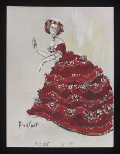 Costume designs by Cecil Beaton for the Metropolitan Opera's 1966 production of Verdi's La traviata Theatre Costumes, Cool Costumes, Vintage Costumes, Amazing Costumes, Costume Design Sketch, Abandoned Castles, Abandoned Mansions, Abandoned Places, Cecil Beaton