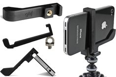 What a simple, small and inexpensive tripod mount for your iPhone? The Glif+ is for you. Perfect for video bloggers.