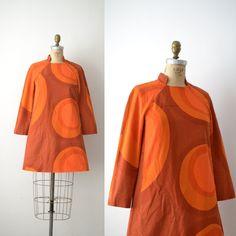 1960s Marimekko Dress / 60s Abstract Cotton Mini by FemaleHysteria