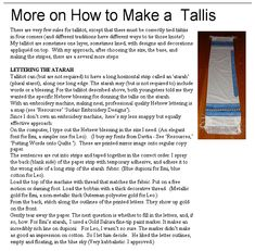 How_To_Make_A_Tallit