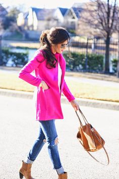 pink coat -affordable too