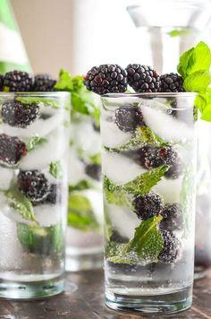 Blackberry Mint Agua Fresca