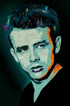 James Dean Art Giclee Print A3 Portrait by CiaranMonaghan on Etsy, $50.00