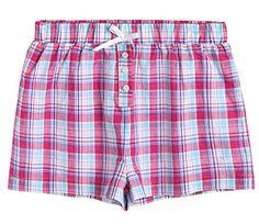 e2824d5dd6 Latuza Women s Cotton Plaid Pajama Boxer Shorts