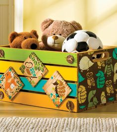 #DIY Wooden Crate perfect for storing toys | Supplies from Joann.com