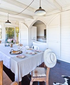 Four years ago Elise Pioch and Pablo Chappelli discovered a run down old church in the bushy countryside of New South Wales. Today, it is a beautifully renovated family home with an undeniable French industrial charm.