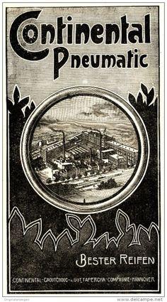 Original-Werbung/ Anzeige 1898 - CONTINENTAL PNEUMATIC RADREIFEN - HANNOVER…