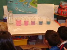Excellent demonstration to teach children how easily a river can be contaminated by pollution.