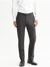 Modern Slim-Fit Charcoal Wool Suit Trouser