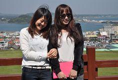 Día de fiesta en la isla de Jeju, el lugar de vacaciones de los coreanos.