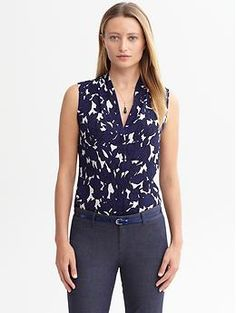 DVF -like print for less. Jessica floral tank | Banana Republic
