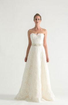Sweetheart A-Line Wedding Dress with Natural Waist in Lace. Bridal Gown Style Number:32902090