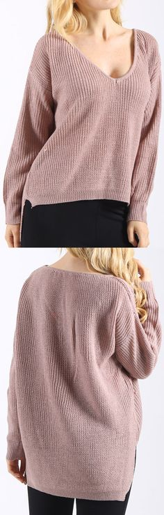 3e44df4d31e  28.99 Only with free shipping easy return! This knit sweate detailed with  irregular bottom and V