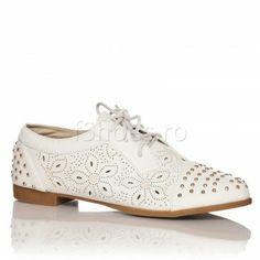 Pantofi Emma - Alb 54 lei