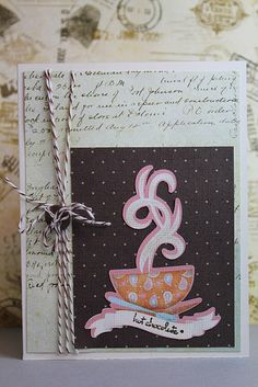 Cricut - Found on a blog I follow (DL.ART). Love the background paper.