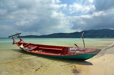 Local boat on the beach, Koh Rong Samloem, Cambodia, Southeast Asia. #getty #gettyimages #purchase #moment #rf #photo #photograph #photography #koh #rong #kohrong