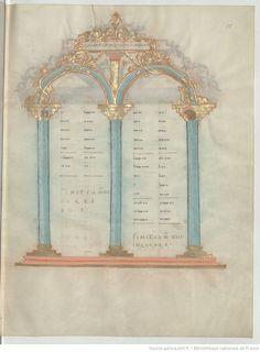 Evangelia quattuor [Évangiles dits de Drogon] (1r-183r). Capitulare evangeliorum (184v-196v).