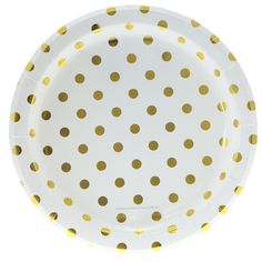 We are your Online Party Store Boutique and we have the gold polka dot plates and party supplies that you need! These are great for any graduation party or milestone party Polka Dot Birthday, Polka Dot Party, Gold Polka Dots, Polka Dot Print, Graduation Party Supplies, College Graduation, Birthday Party Tables, 75th Birthday, Party Plates