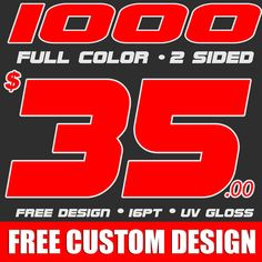 1000 CUSTOM DESIGNED DOUBLE SIDED FULL COLOR BUSINESS CARDS Business Cards Are Printed in Full Color on 16 POINT Xtra Thick Stock & HI GLOSS UV COATED... #free #design #shipping #cards #business #full #color #custom