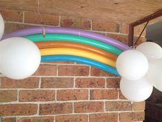 Rainbow balloons - my little pony party
