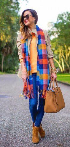 winter fashion plaid