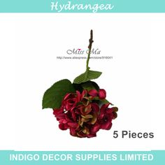 Find More Decorative Flowers & Wreaths Information about 2015 New Red Hydrangea Table Display Flower Decorative Artificial Flower Wedding Party Event Silk Flower Free Shipping,High Quality flowers party,China flower brooches and pins Suppliers, Cheap flower pruning from Indigo Decor Supplies Limited on Aliexpress.com
