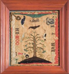 MASSACHUSETTS MINIATURE SAMPLER, CIRCA 1729-1740.