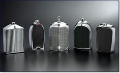 Radiator Grille Decanters:  Rolls Royce, Bentley, Bugatti, Mercedes, and Jaguar chrome radiator decanters for men....by Nicholas Brawer via Reynolds Still