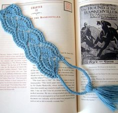 Free Knitting Pattern for Flourish Bookmark - Lace bookmark with knit tassel. Body is approximately 6.5 inches. Designed by Nina Casey.Pictured projectby AriadneWebb